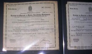 Antique radio licenses 1928 -1953 Edmonton Edmonton Area image 3