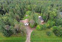 STUNNING 22 ACRE LOT WITH BEAUTIFUL FAMILY HOME