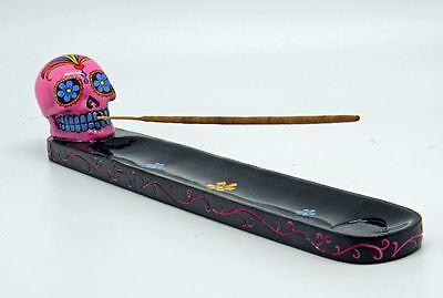 Pink Day of the Dead Sugar Skull Mexican Dia De Los Muertos Incense Burner