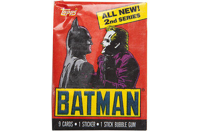 Topps 1989 Deluxe Batman Series 2 Unopened Wax Pack - NEW & SEALED!!!