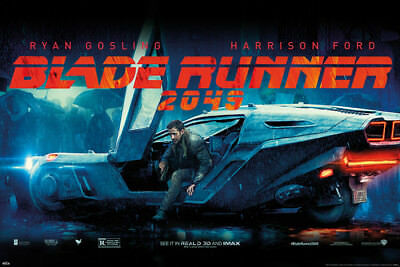 BLADE RUNNER 2049 - MOVIE POSTER / PRINT (RYAN GOSLING / FLYING CAR)