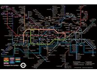 Poster London Transport Underground Map 91.5x61cm
