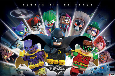 THE LEGO BATMAN MOVIE - MOVIE POSTER / PRINT (ALWAYS BET ON BLACK)