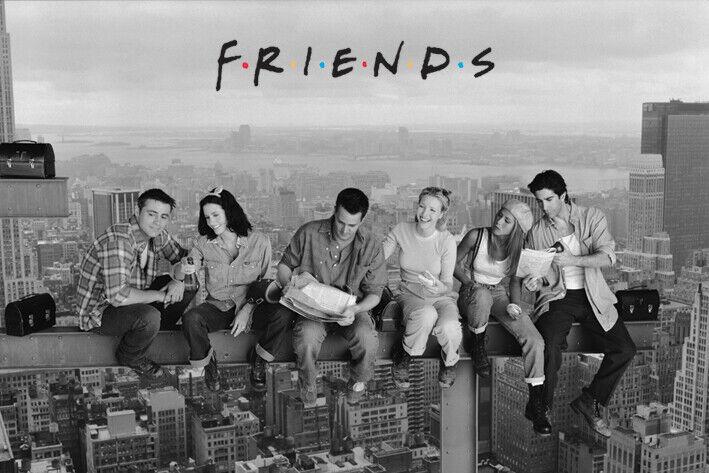 FRIENDS TV SHOW CAST ON SKYSCRAPER POSTER, size 24x36