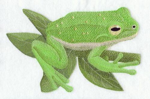 Embroidered Sweatshirt - Green Tree Frog D1788