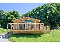 FOR SALE: Stylish 2-bedroom, fully furnished and equipped HOLIDAY LODGE with HOT TUB in Cornwall