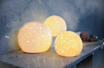 3er-Set Indoor LED-Kugeln Batteriebetrieb Leuchtkugel Deko Beleuchtung Timer