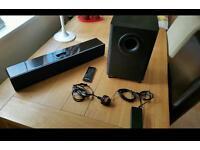 Orbitsound sound bar and sub