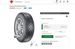 General Tire Altimax Winter Tires, MINT Condition 225/60/R17