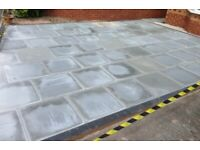 Decking fencing turfing block paving driveways Indian stone garden services paving tree surgery wall