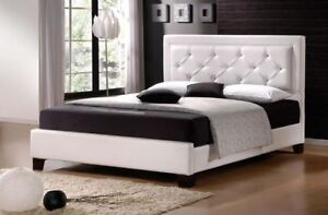 NEW Gorgeous Queen Size White Bed Frame + New Mattress Combo