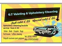 G.T Valeting & Upholstery Cleaning