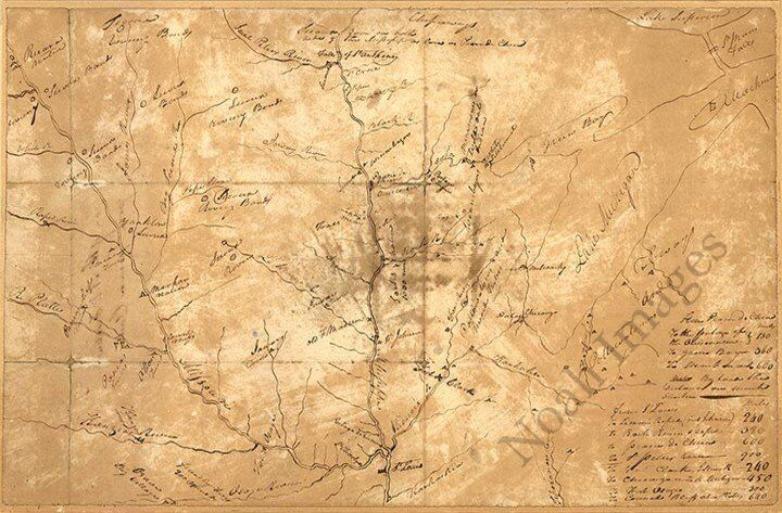 Plan of the NW frontier c1813 map 24x16
