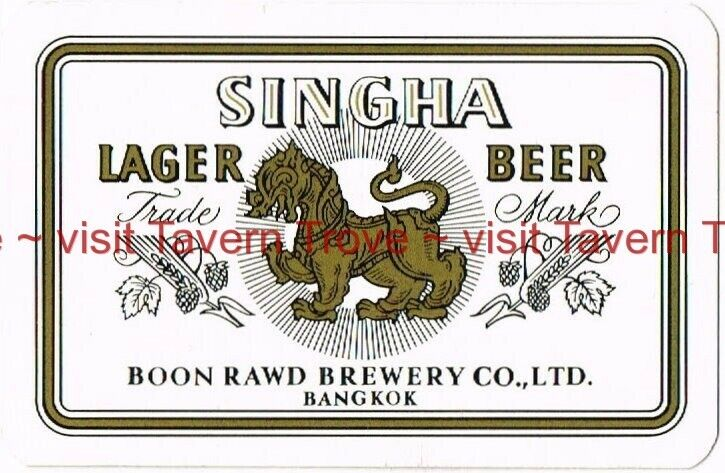 1964 Thailand SINGHA BEER year 2508 pocket calendar playing card Tavern Trove