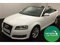ONLY £240.10 PER MONTH WHITE 2012 AUDI A3 CABRIOLET 1.6 TDI SPORT MANUAL DIESEL