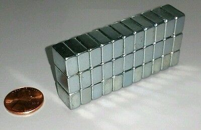 30 Neodymium Block Magnets Large N52 Super Strong Rare Earth 1/2