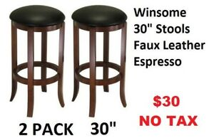 Bar Stools - Brand New - 2 styles – Pack of 2 - Price on Picture