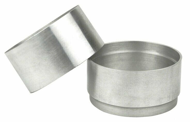 100 MM Aluminum 2 Part Mold Rings For Clay Petrobond Sand Casting