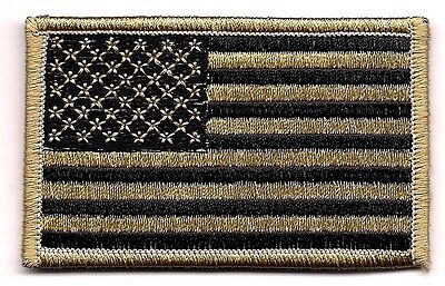 Coyote Black Tan United States US Flag Patch VELCRO® BRAND Fastener Compatible