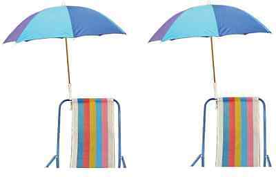 Clamp On Umbrella for Beach Chair or Table 2-Pack