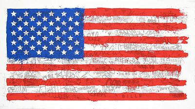 MR BRAINWASH INDEPENDENCE S/N SCREEN PRINT Low #126 FLAG Freedom Jasper Johns