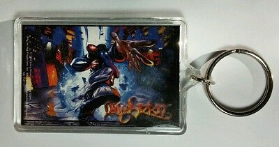 AS-IS LIMP BIZKIT CARTOON GUY HAND OUT 1999 VINTAGE BLUE BAND KEY CHAIN KEYCHAIN