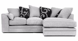**FREE UK DELIVERY** Darcy Luxury Fabric Corner Sofa Suite - *14-DAY RETURNS POLICY!*