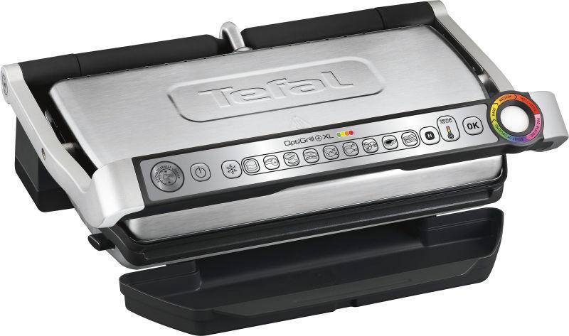 Tefal GC722 OptiGrill+XL Smart Grill Sandwich Press - Stainl
