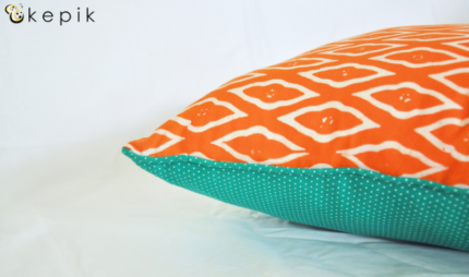 Handmade Indonesian batik cushion covers