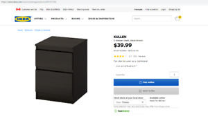 Almost new, ikea 2 drawer chest, night stand