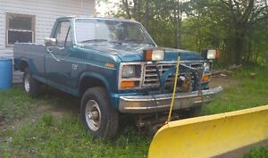 f250 with plow 1986