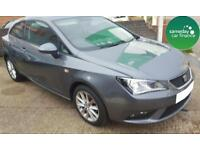 £144.47 PER MONTH GREY 2013 SEAT IBIZA 1.4 SPORTCOUPE TOCA 3 DOOR PETROL MANUAL
