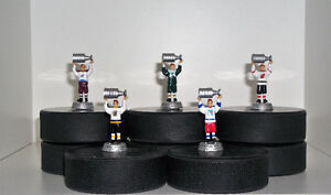 5 Teams Stanley Cup Guys Action Figures on Puck Bases