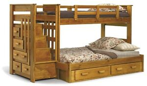 Chelsea Twin-Over-Full Bunk Bed with Stairway Chest, New