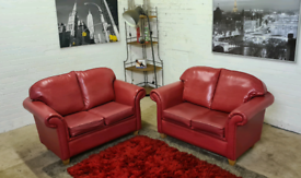 2x2 Seater Leather Sofa Set - Only £150!!