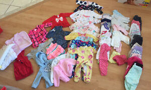 3 month girl clothing 47 pieces
