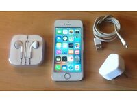 iPhone 5S - 16gb. White/gold. EE network