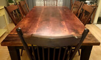 Reclaimed wood dining room table- NEW - 7 foot (seats 8)