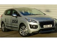 Peugeot 3008 Crossover 1.6BlueHDi Active Manual Crossover Silver 2015