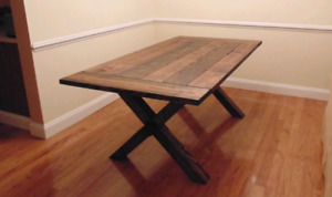50% off Custom Harvest Table + FREE Bench ready to go!