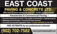 TRUST 25 YRS IN BUSINESS TRUST EAST COAST PAVING