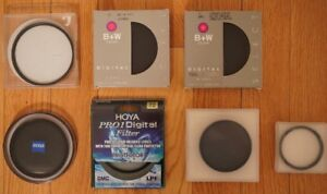 High End Hoya Zeiss B+W UV CPL ND Filters 77mm 72mm 62mm 52mm