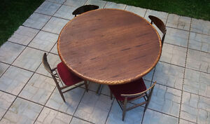 1970's Vintage RoseWood Chairs with a Solid Oak Dinning Table