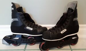 BAUER RV200 ROLLELRBLADE SKATES - like new - fits a woman Size 6