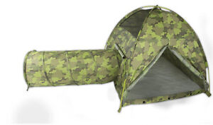 Pacific Play Command HQ Tent and Tunnel Com