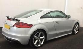 Silver AUDI TTS COUPE 1.8 2.0 TFSI Petrol QUATTRO S-T FROM £57 PER WEEK.