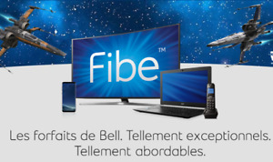 Wow! Bell 89,95$/m DUO Fibe TV & Internet 300 Mbps BAS PRIX!