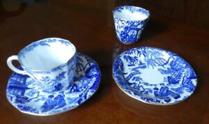 Royal Crown Derby, Mikado, 8 Teacups and Saucers, excellent