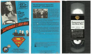 vhs Superman and the Mole Men  George Reeves B&W 59 minutes pre-
