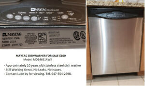 Maytag Dish Washer Sale $100